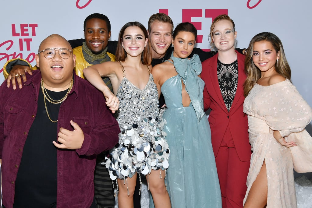Netflix's Let It Snow premiered on Nov. 8, and it hasn't taken us long to become obsessed with the talented cast. While the holiday rom-com is filled with plenty of romances, it's the offscreen friendship between the young stars that truly makes our hearts melt. When they aren't sharing behind-the-scenes moments from filming on social media, the cast are showing off their sweet bonds on the red carpet.  During a photocall earlier this month, Kiernan Shipka, Mitchell Hope, Matthew Noszka, Liv Hewson, Anna Akana, Odeya Rush, Jacob Batalon, Shameik Moore, and Isabela Merced shared a few laughs as they struck funny poses with each other. After binge-watching the film, scroll through some of their cutest friendship moments ahead.       Related:                                                                                                           Meet the Charming Cast of Netflix's Teen Holiday Flick Let It Snow