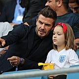 David Beckham and Harper at World Cup Pictures June 2019