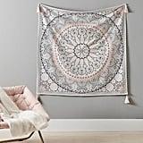 Printed Mandala Tapestry With Tassels