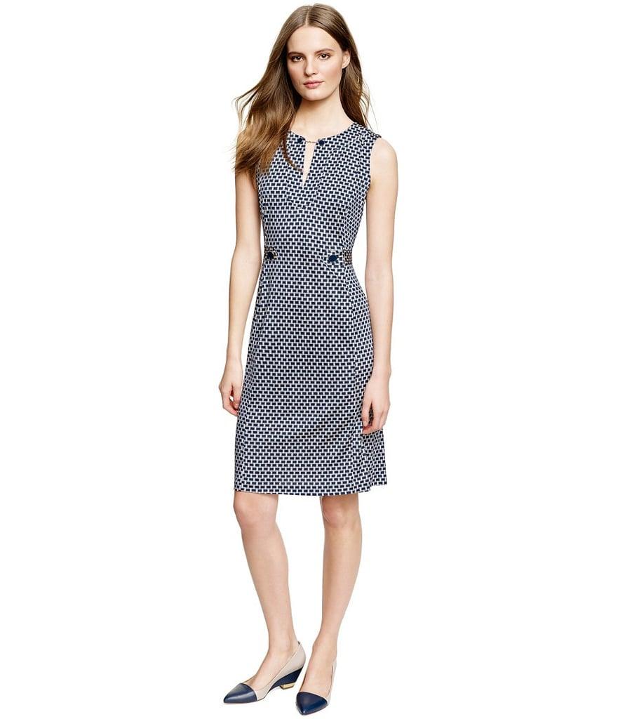 Tory Burch black-and-white geometric-print Tara dress ($425)