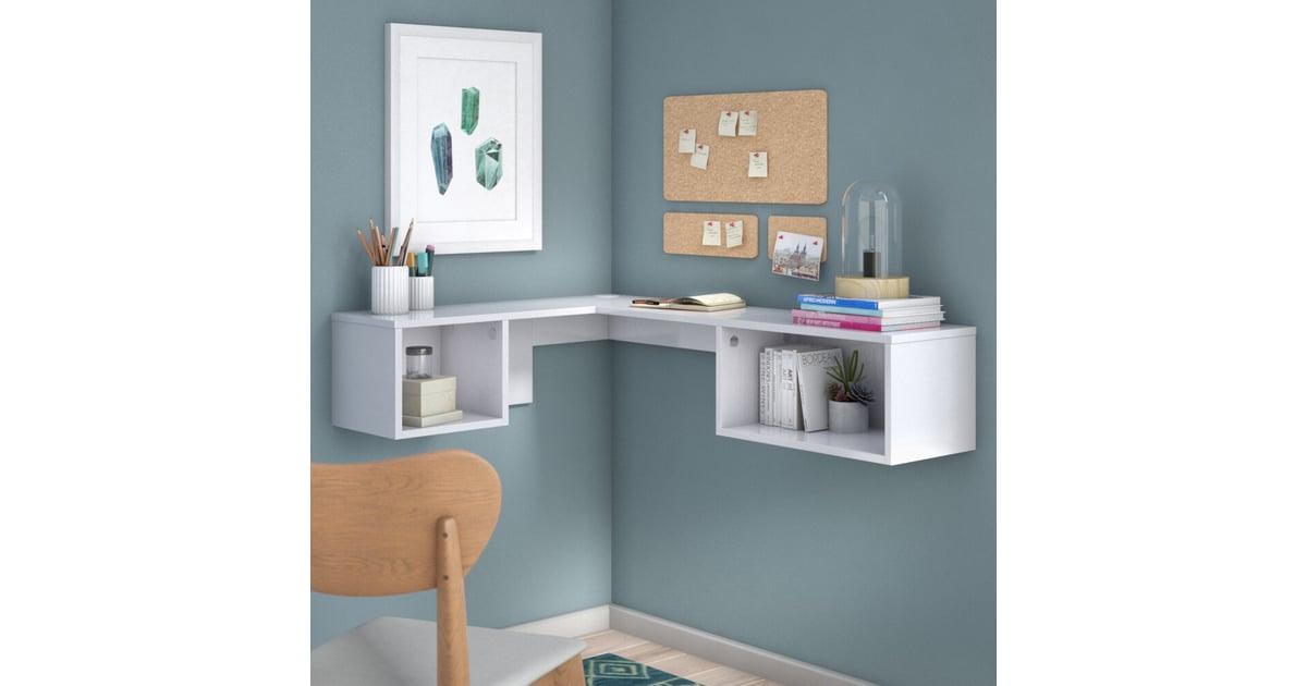 Orren Ellis Chaves L Shape Floating Desk With Hutch