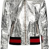 Gucci Metallic Leather Bomber Jacket ($3,500)