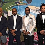 Pharrell Williams, Kanye West, and JAY-Z at Diddy's 50th Birthday Party