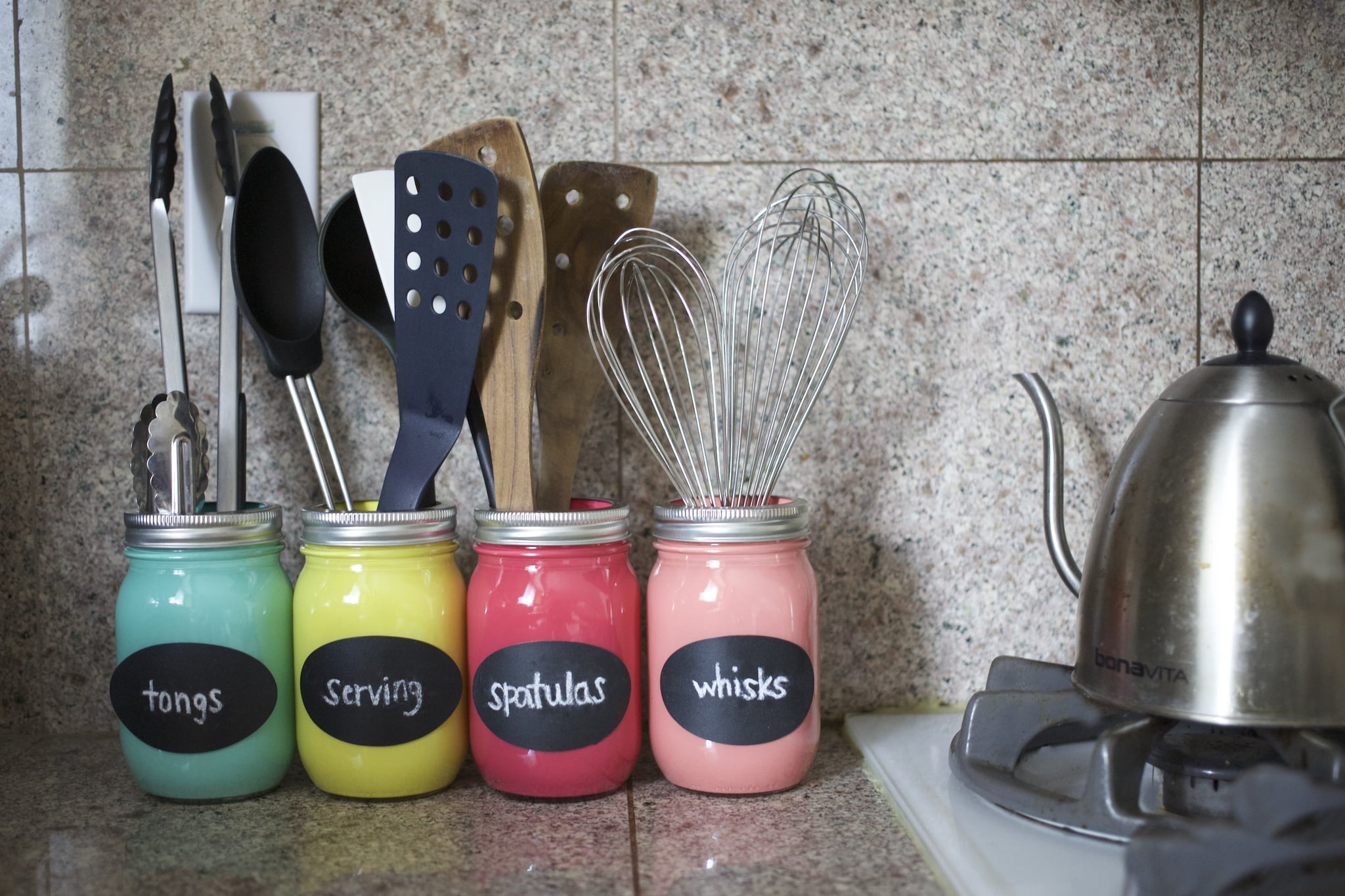 Diy Mason Jar Organizer Popsugar Smart Living