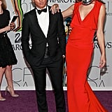 Prabal Gurung with Alessandra Ambrosio in his design