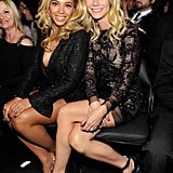 Gwyneth and Beyoncé Knowles got cozy in the front row at the Grammys in February 2011.