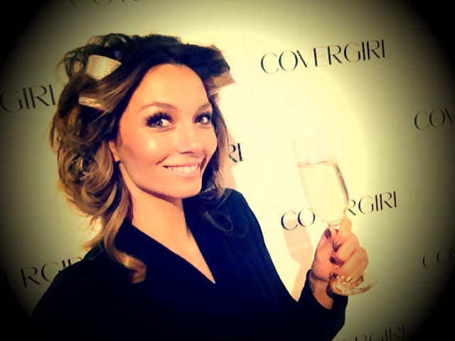 Ricki-Lee Coulter celebrated her new role with CoverGirl. Source: Twitter user TheRickiLee