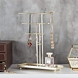 3-Tier T-Bar Necklace Stand With Ring Tray