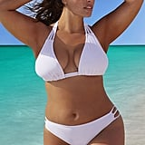 Swimsuits For All Beach Babe White Triangle Triple String Bikini