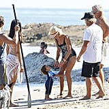 Photos of Matthew and Camila at the Beach