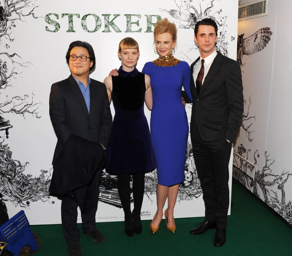 Park Chan-Wook, Mia Wasikowska, Nicole Kidman, and Matthew Goode attended a special screening of Stoker.