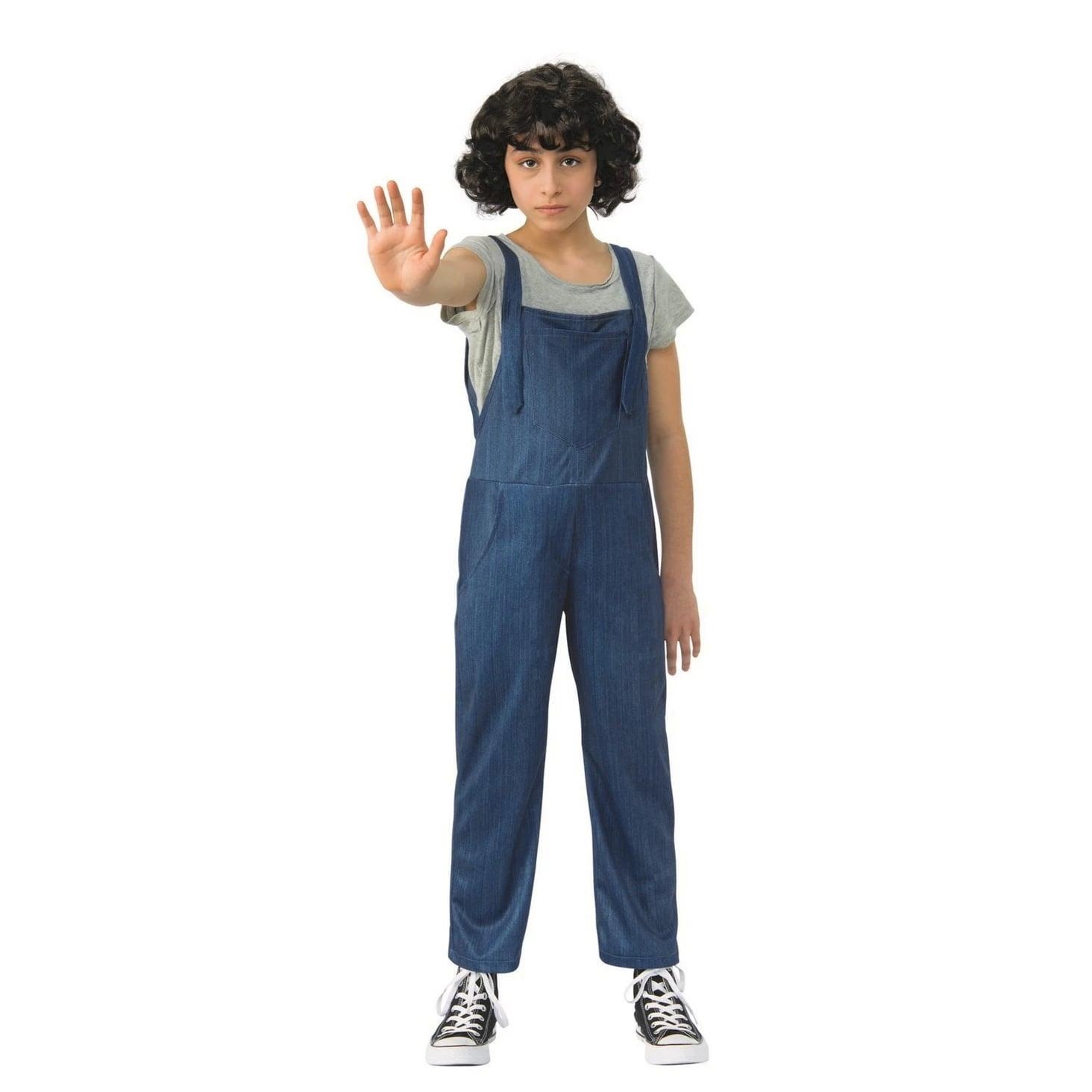 Girls\u0027 Stranger Things Eleven Overalls Halloween Costume