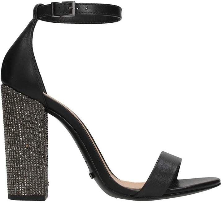 Schutz Glitter Heel Sandals