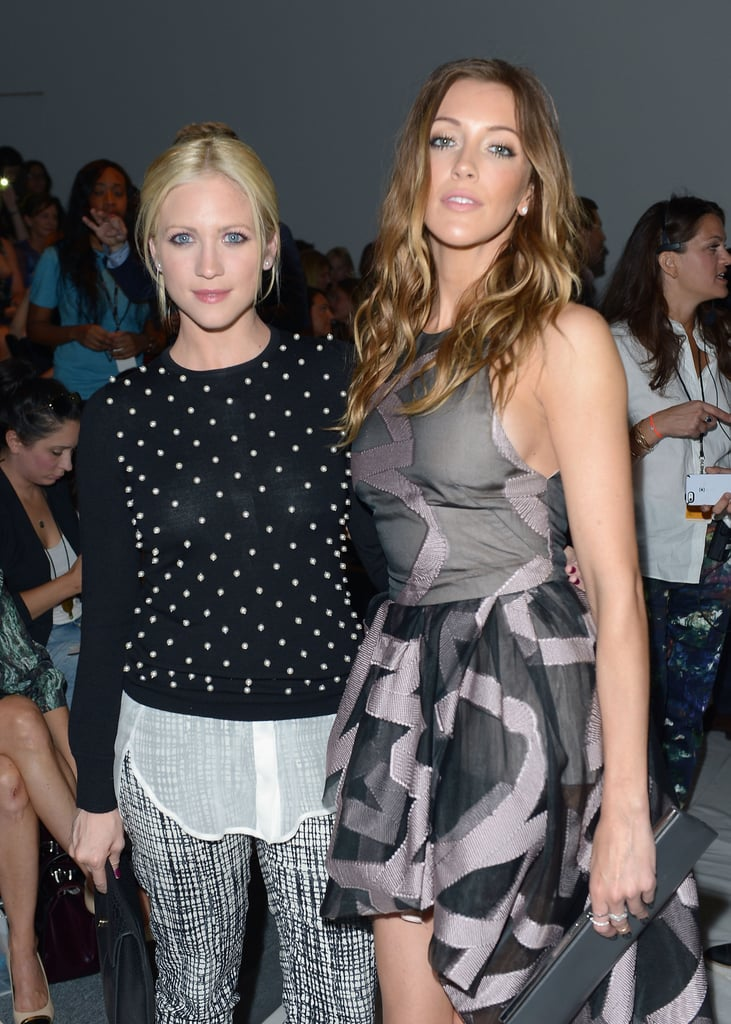 Brittany Snow and Katie Cassidy posed together before Sunday's Lela Rose show.