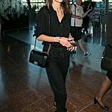 Alessandra Ambrosio Carrying a Chanel Boy Bag
