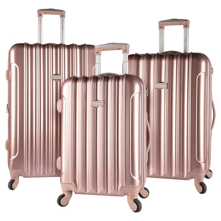 Kensie Expandable Hardside Luggage Set In Rose Gold 200