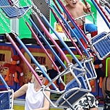 Gwen Stefani watched as her son Zuma Rossdale rode on swings in NYC Friday.