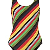 Ganni Striped Swimsuit ($160)
