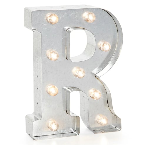 Darice Silver Lighted Marquee Letter