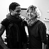 Lenny Kravitz hung out with Jane Birkin.