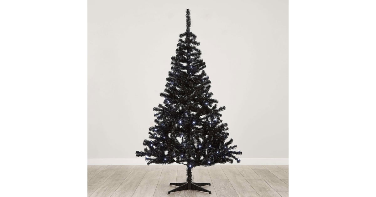 Dunelm 6 Foot Pre Lit Swiss Pine Black Christmas Tree (£40