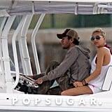 Anna Kournikova and Enrique Iglesias took their boat out for a ride around Miami in May 2011.