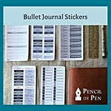 Bullet Journal Stickers For Leuchtturm1917 and Midori Travelers Notebooks