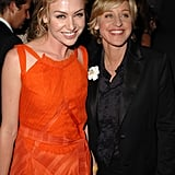 Portia de Rossi and Ellen DeGeneres at the 2005 Emmy Awards