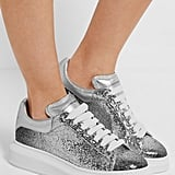 Alexander McQueen 'Larry' Glitter Extended-Sole Trainers (£360)