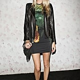 Poppy Delevigne went edgy-chic for Barneys fete.
