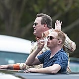 Eric Stonestreet and Jesse Tyler Ferguson rode around Sydney in a limo on Feb. 19 to shoot some scenes.