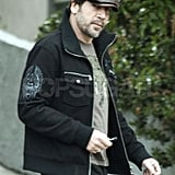 Javier Bardem Takes Care of Business Solo and Looks Hot Doing It