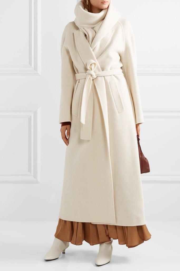The Row Tooman Cashmere and Wool Blend Wool Coat and Scarf