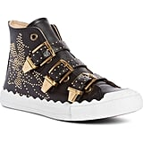 Chloe Kyle Stud Buckle High Top Sneakers
