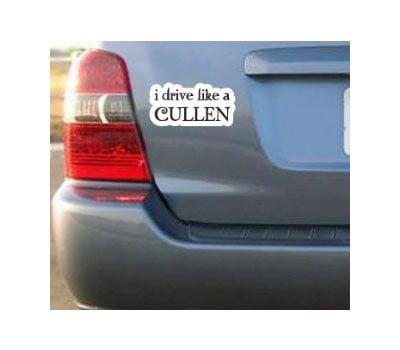 I Drive Like a Cullen Bumper Sticker ($5)
