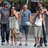 Javier Bardem and Penelope Cruz were all smiles after lunch in Madrid.