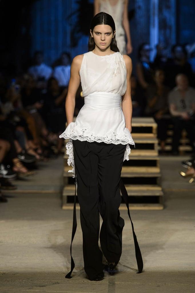 A flirty top to dress up black pants. | Best Runway Looks Spring ...