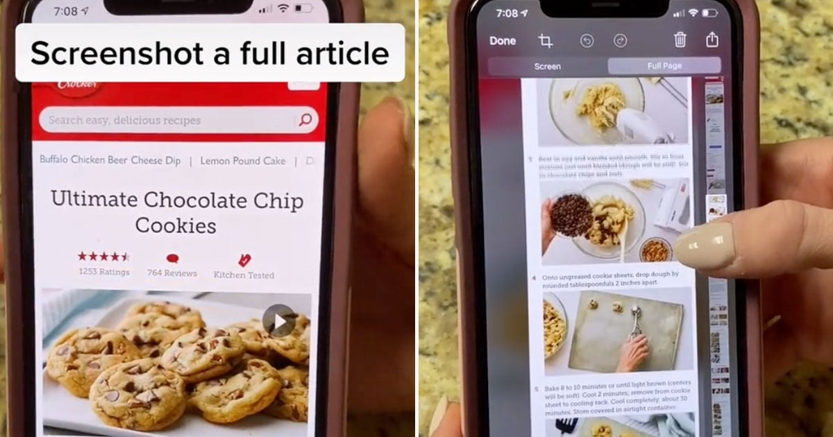 This iPhone Hack Lets You Take a Full-Page Screenshot With Scrolling, and It's Such a Timesaver