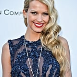 Petra Nemcova wore an intricate diamond chain and pendant, with diamond stud earrings.