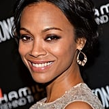 We love a good braid, and Zoe Saldana worked a polished milkmaid plait that looked great with her smoky eye.