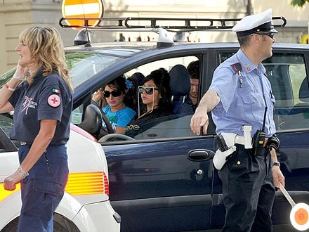 Snooki Hits Police Car Escort in Italy