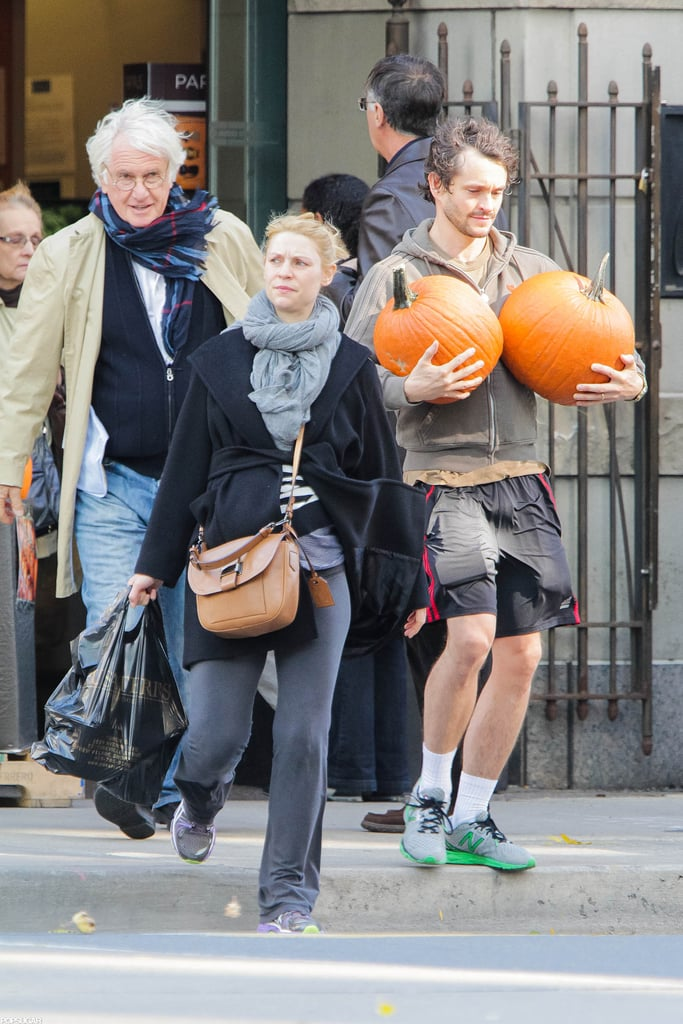 Claire Danes and her husband, Hugh Dancy, got into the Halloween spirit yesterday when they purchased two large pumpkins from a market in Toronto. She's spending time in Canada with Hugh, who is on location filming his upcoming NBC show, Hannibal. They're preparing for more than just the holiday — Claire's is expecting their first child, too!  It has been quite the year for Claire so far. She took home the Emmy last month for outstanding actress in a drama series for Homeland, which is in its second season. Despite starring on the hit show, which aired the third episode of the current season last night, Claire is the subject of a viral video featuring a montage of her now famous crying scenes.