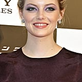 Emma Stone wore her hair back at The Amazing Spider-Man premiere in Japan.