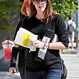 Jennifer Garner carried a cookie and lemonade.