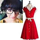 """@tholmz Comedy Hour Dress in Solid Red ($120) """"Because this dress looks like something Lucille Ball would wear, and she is obviously my comedy idol."""""""