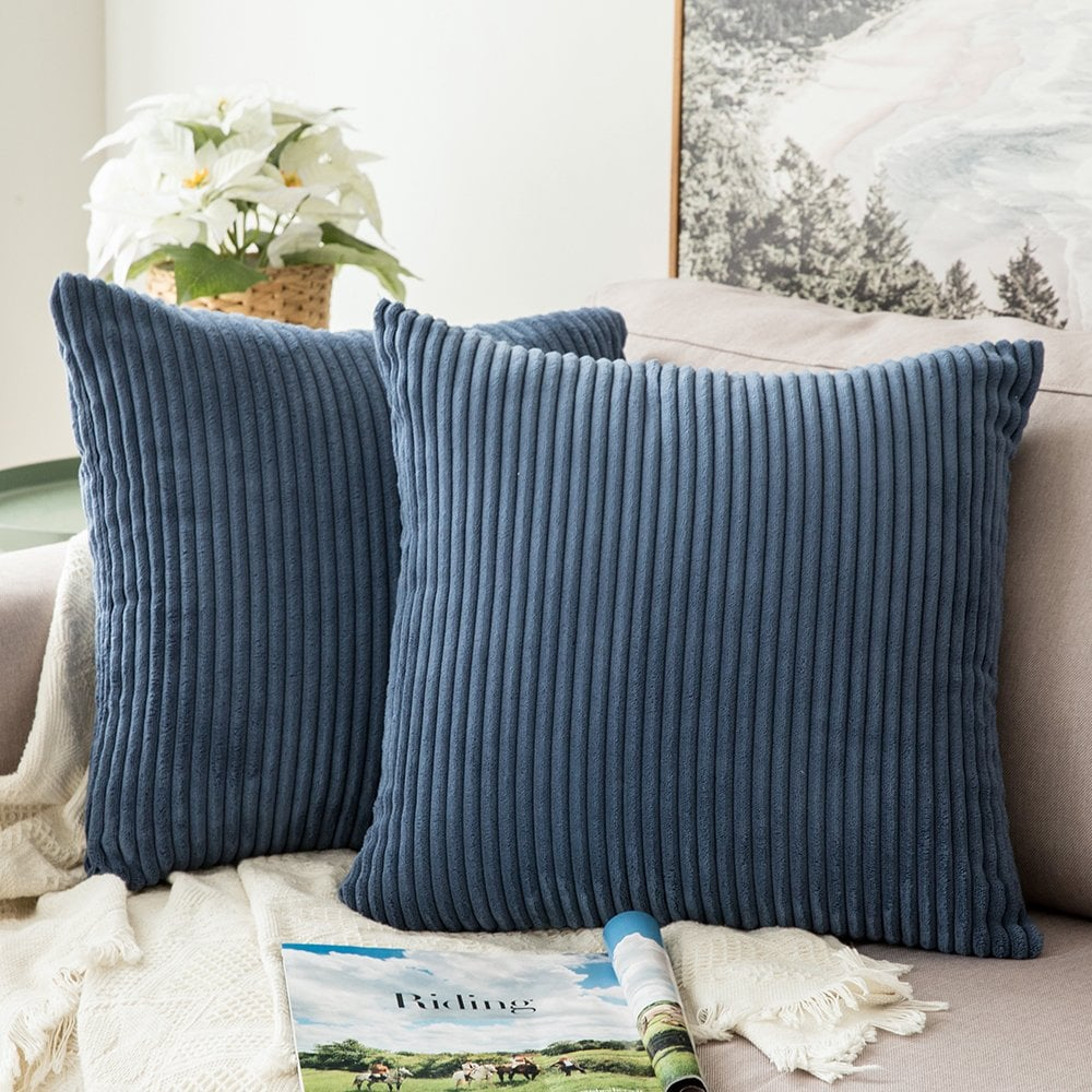 Miulee Corduroy Decorative Throw Pillow Covers