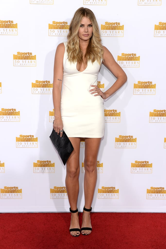 Tori Praver wore a little white dress.