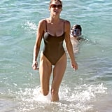 Stephanie Seymour Parades Bikinis in St. Barts With Her Kids