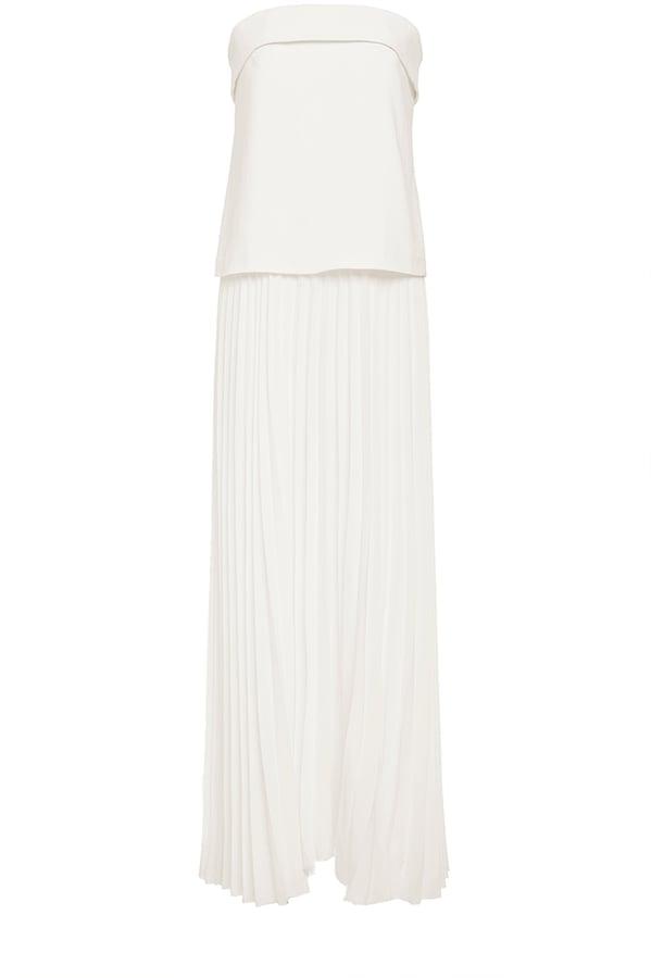 A.L.C. White Strapless Brock Maxi Dress ($625)