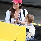 Selma Blair was all smiles with her son Arthur at an LA farmers market on Sunday.